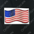 Waving American Flag Decal