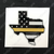 Gold Line American Flag Texas Decal