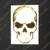 Gold Line American Flag Skull Decal