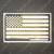 Gold Line American Flag Decal