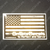 Gold Line OnSiteDecals American Flag Decal