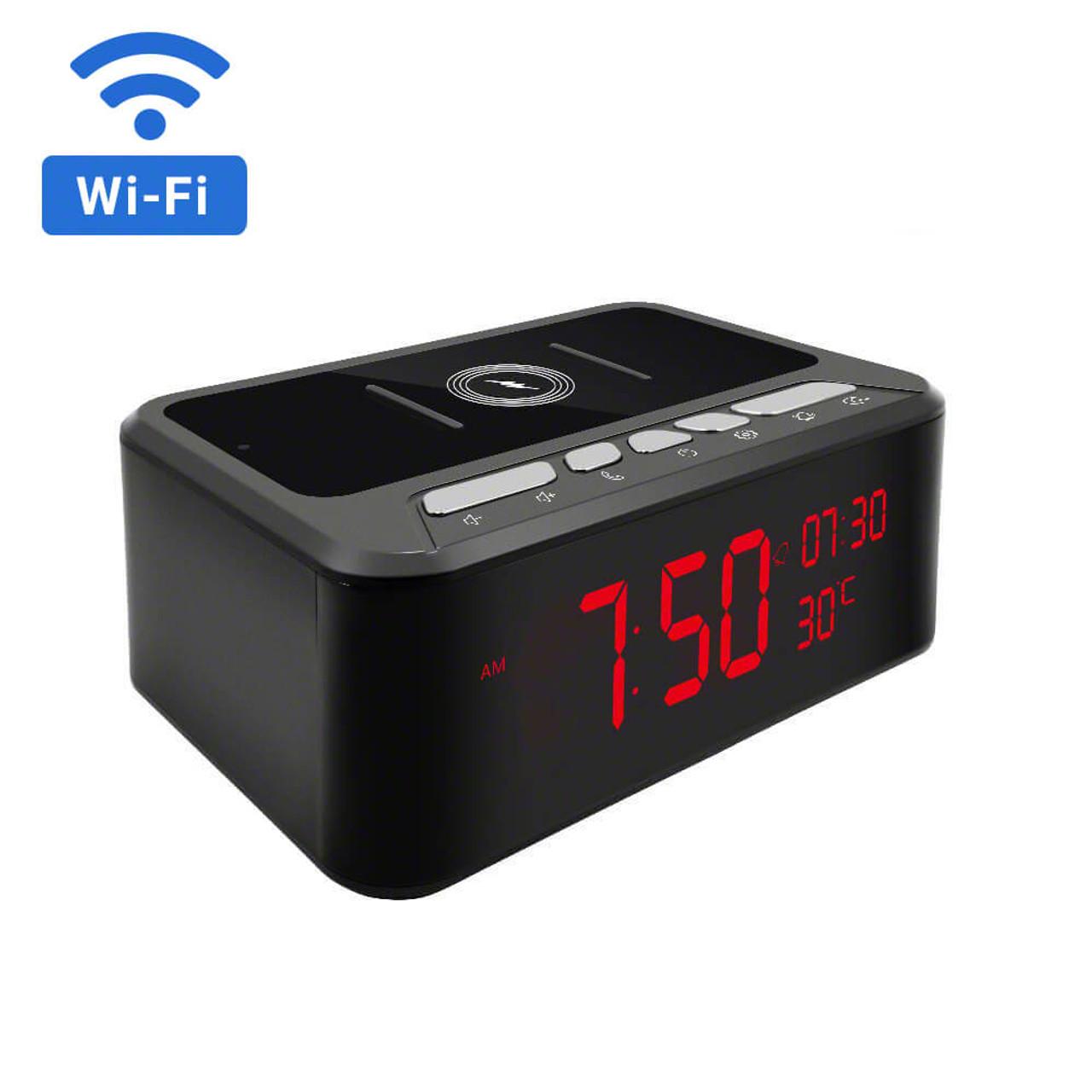 1080P HD WiFi Multifunction Clock Hidden Camera with Night Vision
