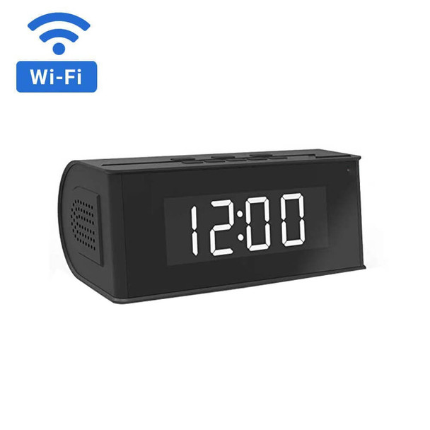 1080P HD WiFi Mini Speaker Clock Hidden Camera with Night Vision
