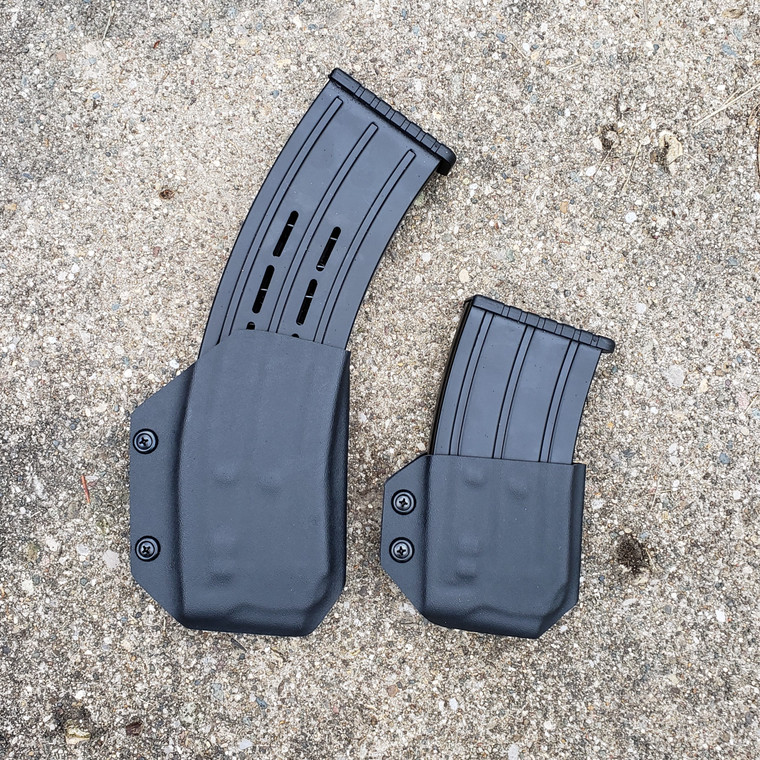 Tall and short magazine carriers for VR80