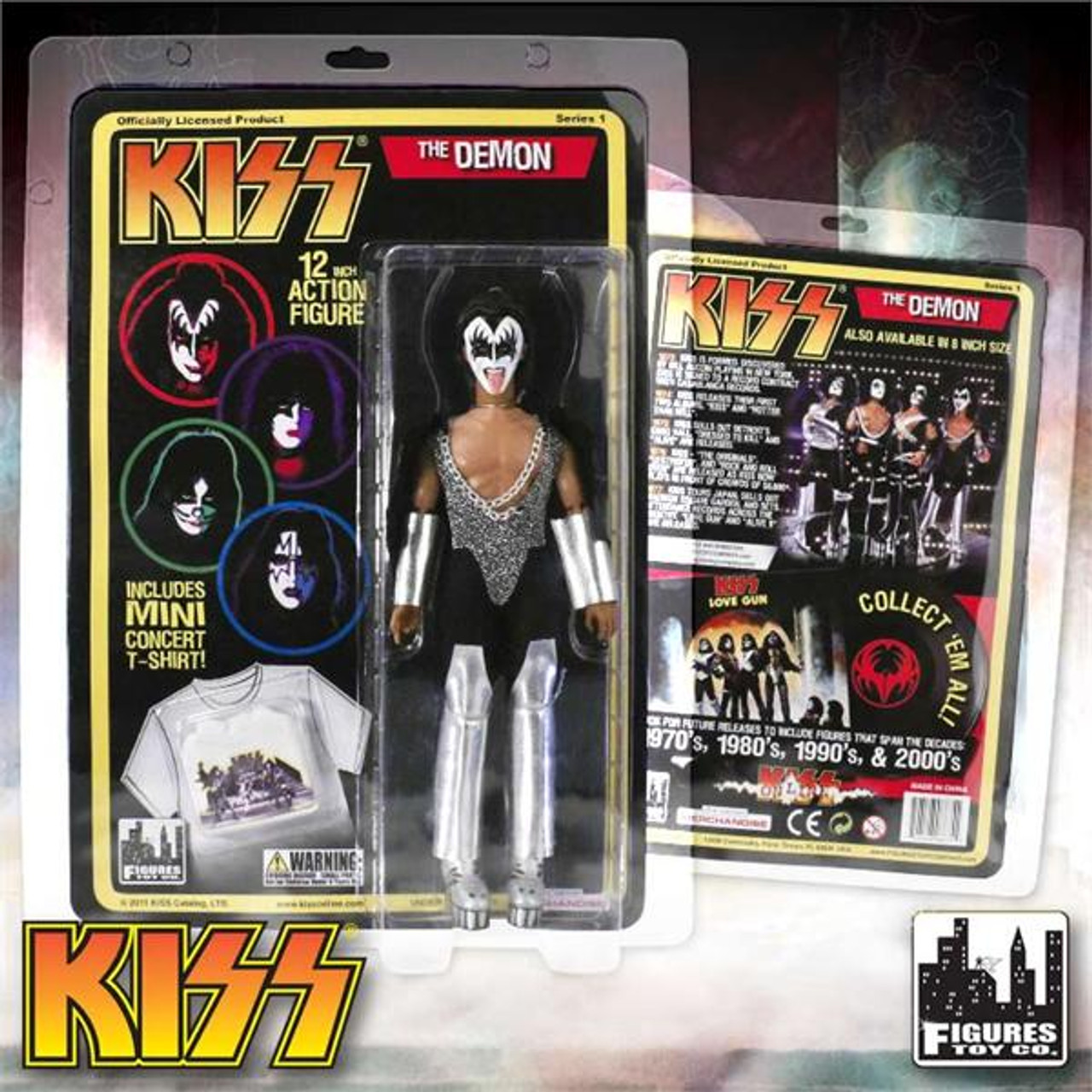 KISS Action Figure 8 /& 12 Inch Packs The Catman Sonic Boom Edition