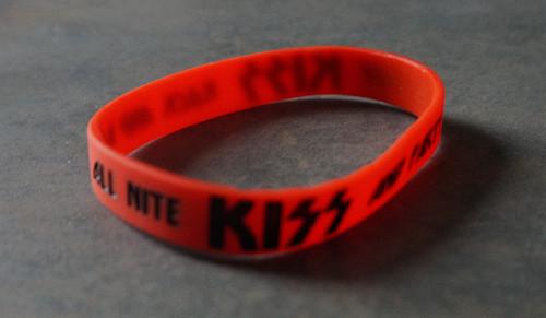 KISS Gummy Wristband Logo /& Icons