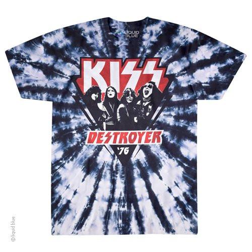 ce67aabf73ab62 KISS DESTROYER '76 Tie-Dye Tshirt
