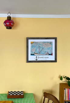 Happiness is Riding on a Boat Poster