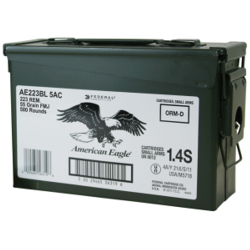 Federal American Eagle 223 Rem. 55gr FMJ - 500rd Can