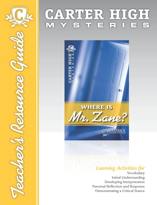 Where is Mr. Zane? Teacher's Resource Guide (Digital Download)