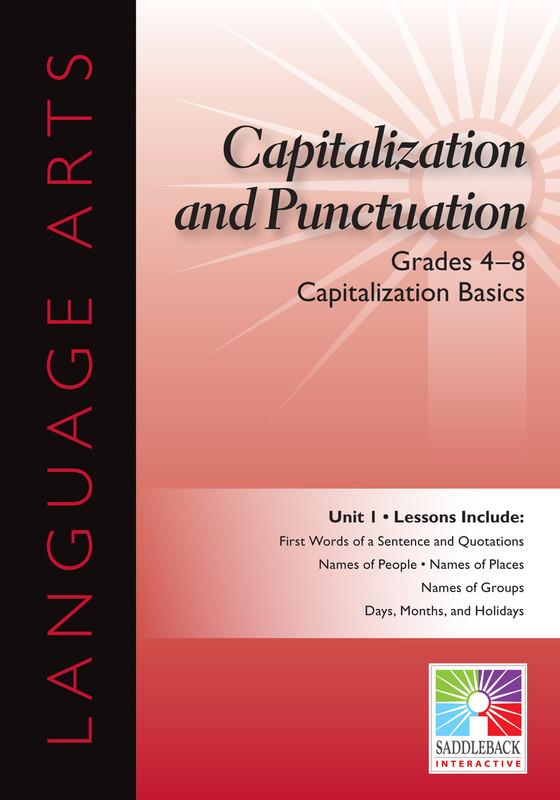 Capitalization Basics- Grades 4-8 (Digital Download)