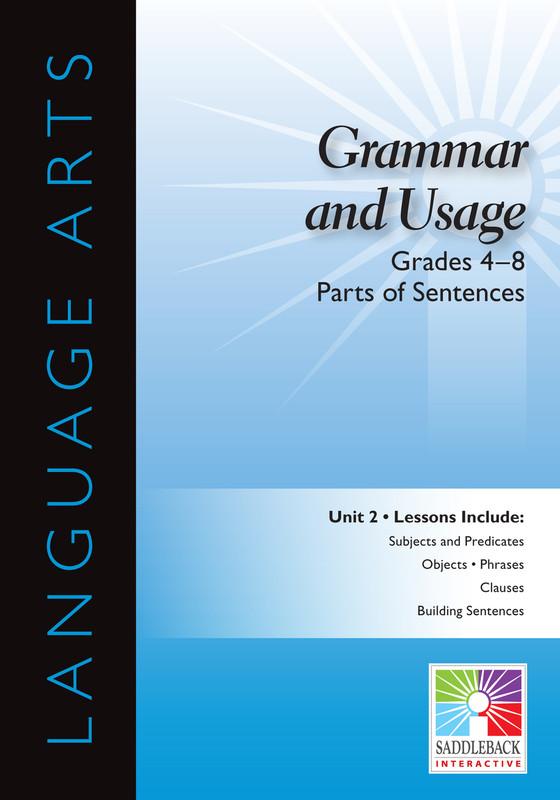 Parts of Sentences- Grades 4-8(Digital Download)