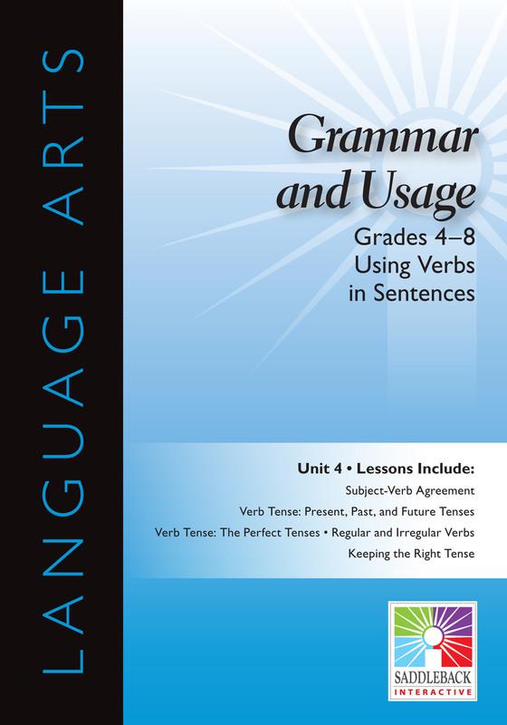 Using Verbs in Sentences- Grades 4-8(Digital Download)