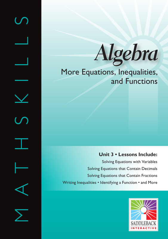 More Equations, Inequalities, & Functions(Digital Download)