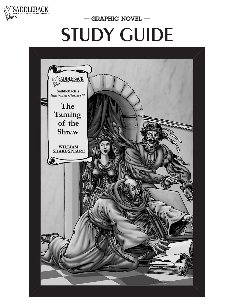 The Taming of the Shrew Graphic Novel Study Guide - SADDLEBACK -  9781602916258