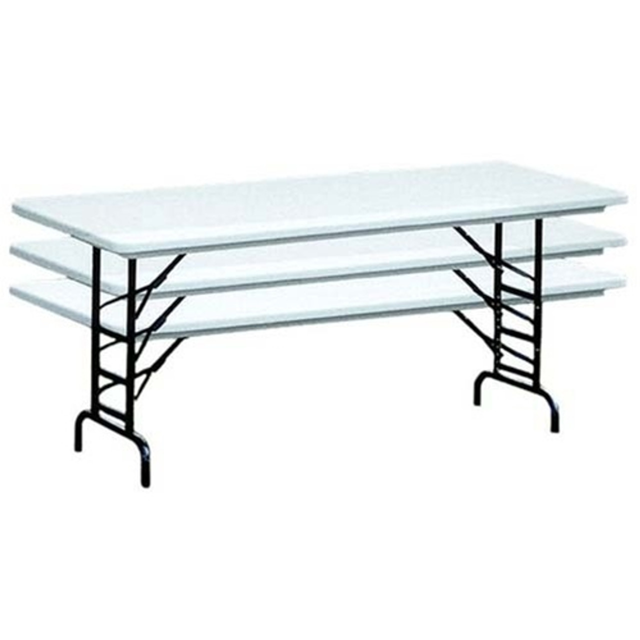 - 30x60 Adjustable Height Folding Tables Adjustable Height Folding