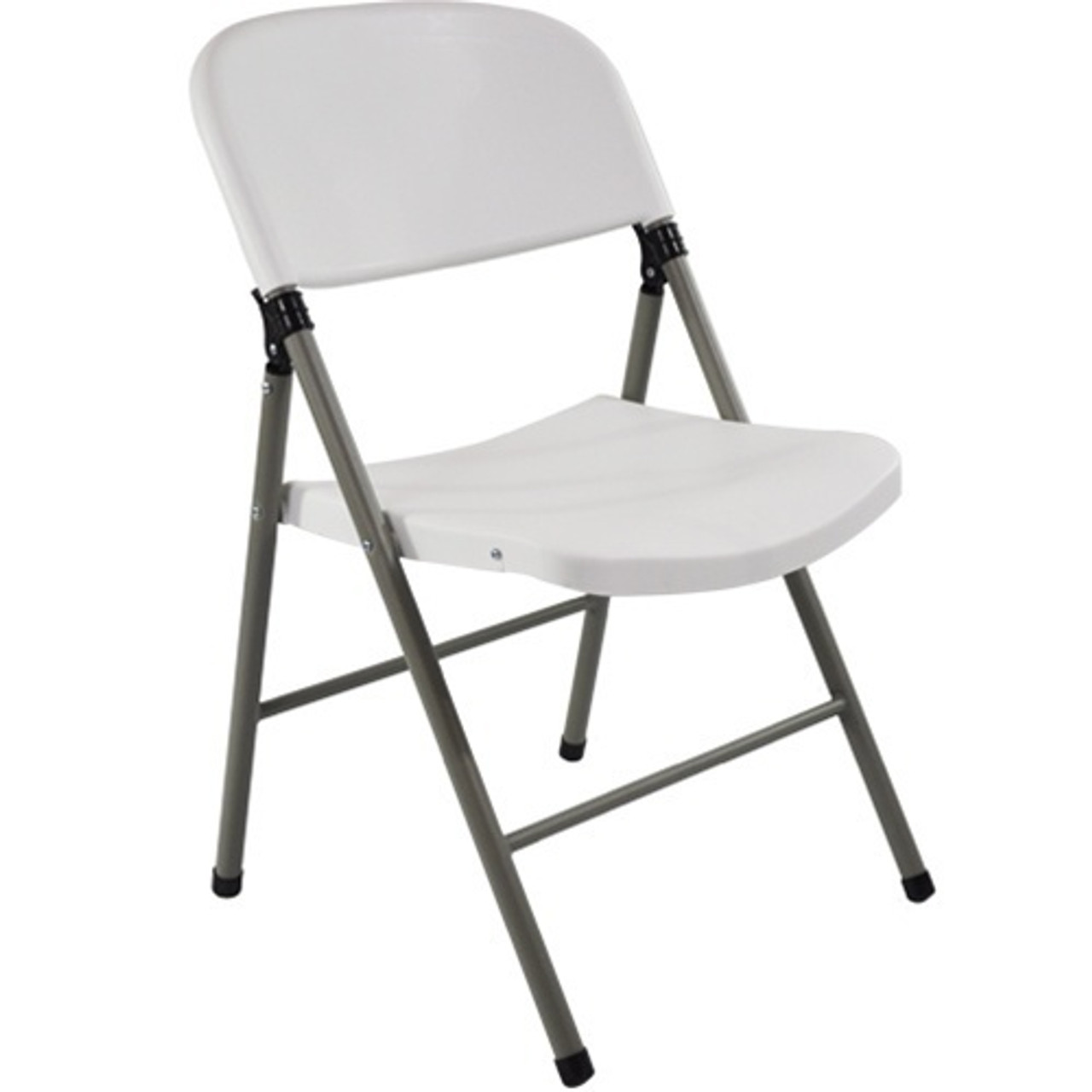 Tremendous Advantage White Poly Folding Chair Oversized With Gray Frame Dad Ycd 70 Wh Gg Caraccident5 Cool Chair Designs And Ideas Caraccident5Info