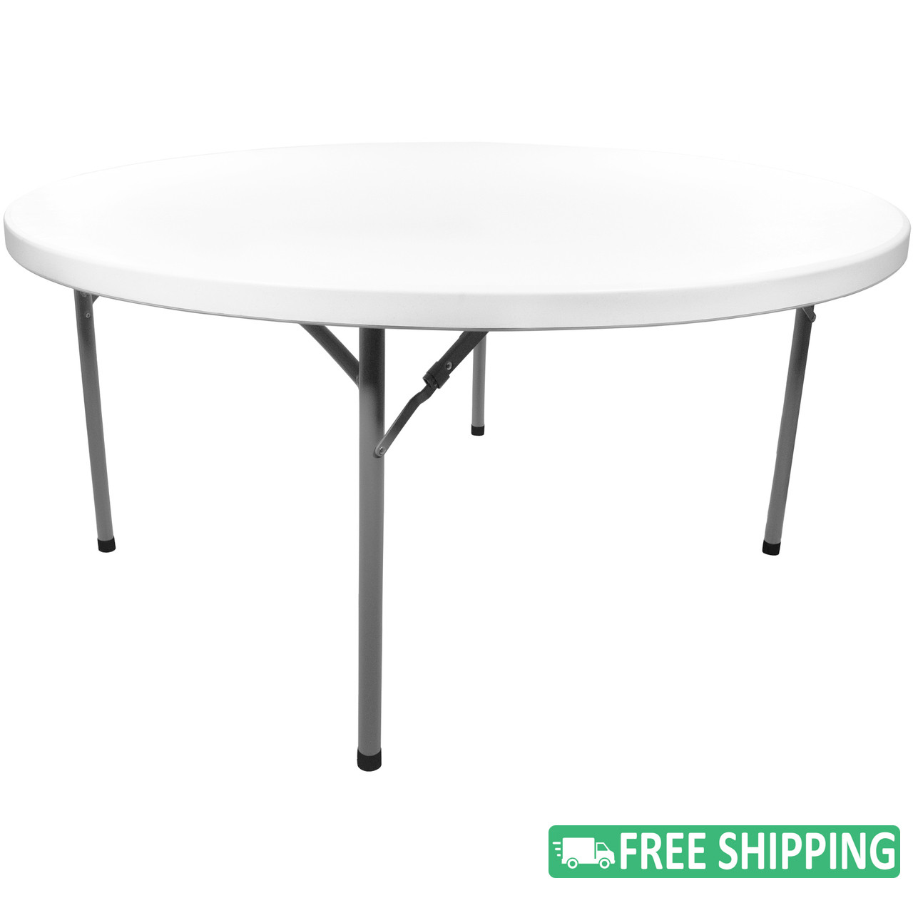 Pleasing 10 Pack Advantage 5 Ft Round White Plastic Folding Table Adv60R White 10 White Granite Download Free Architecture Designs Scobabritishbridgeorg