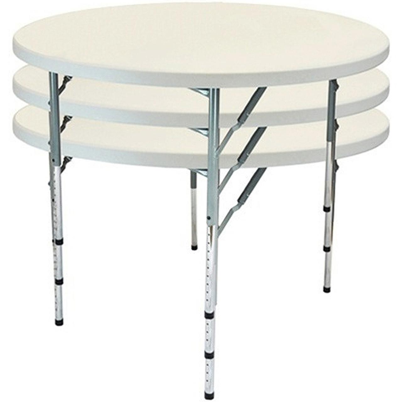 5 Pack Advantage 4 Round Adjustable Folding Tables Ftd48r Adj 05 Adjustable Folding Tables