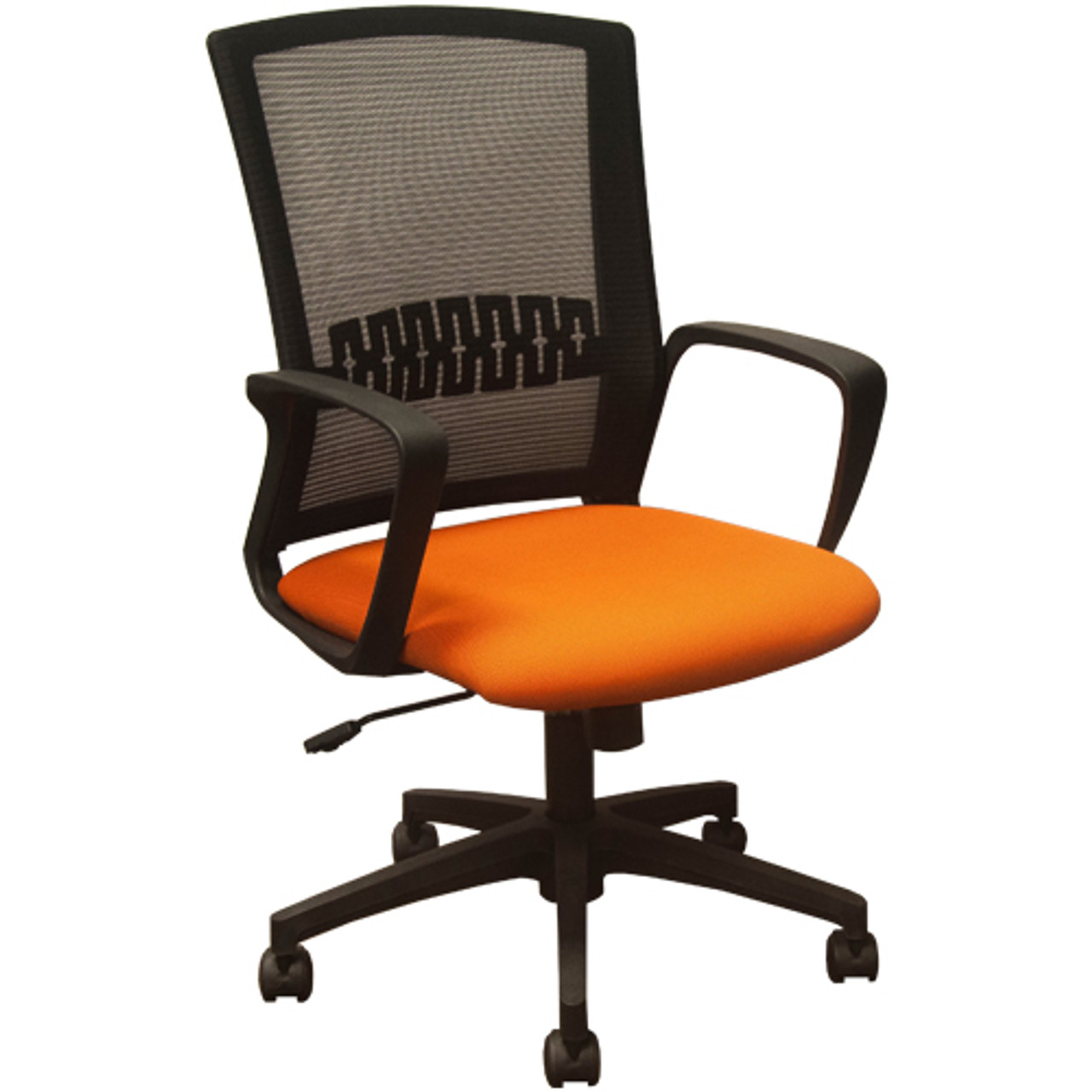 Swell Advantage Black Mesh Office Chairs Orange Padded Seat Kb 8929 Orange Machost Co Dining Chair Design Ideas Machostcouk