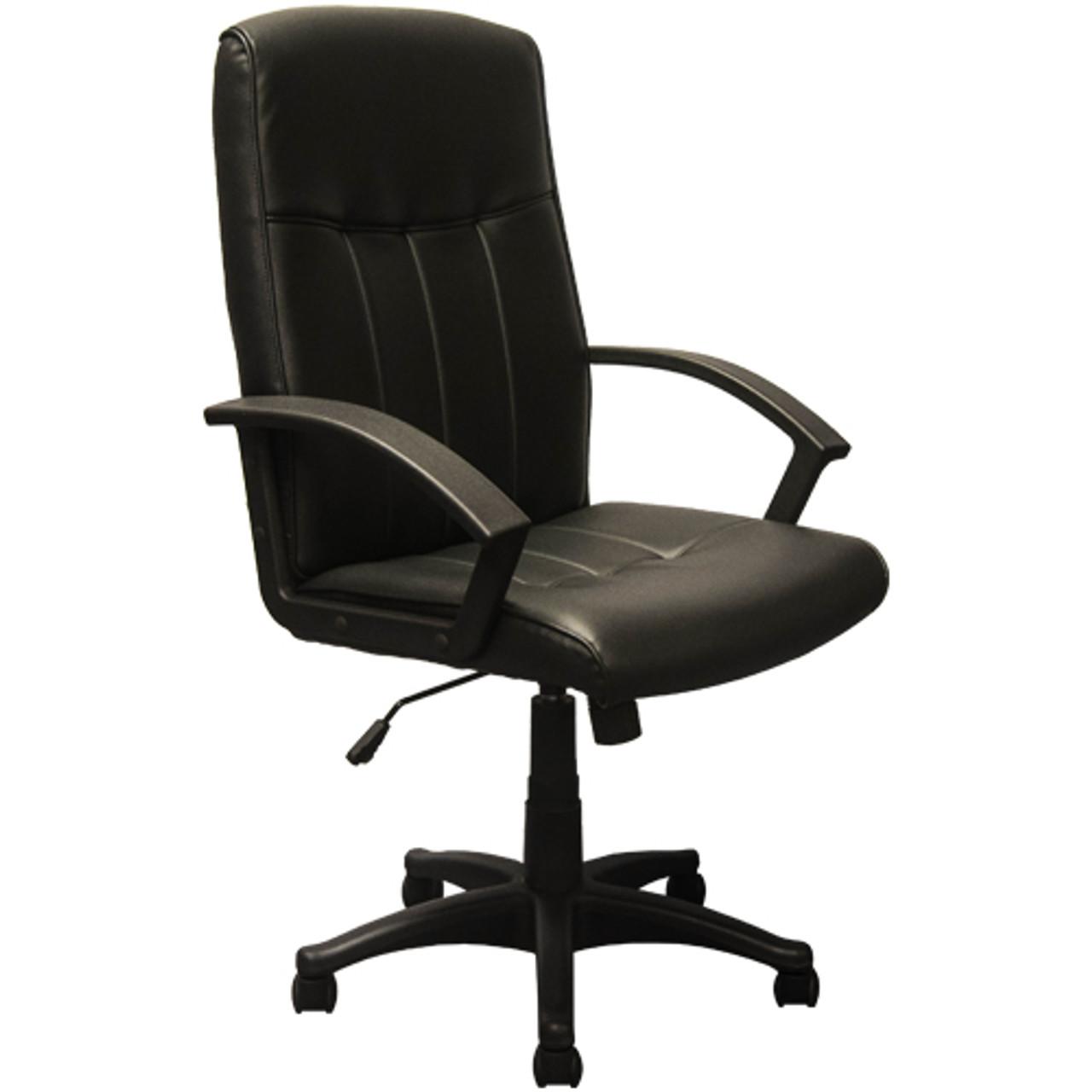 Pleasant Advantage High Back Black Leather Executive Office Chair Kb 3001 Machost Co Dining Chair Design Ideas Machostcouk