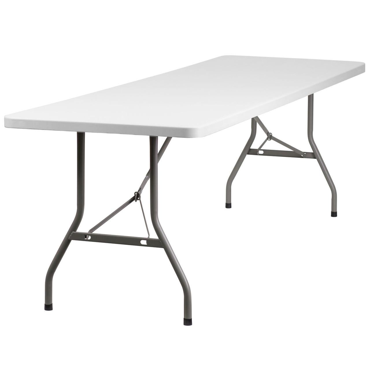 - 8 Ft Lightweight Plastic Folding Table [RB-3096-GG
