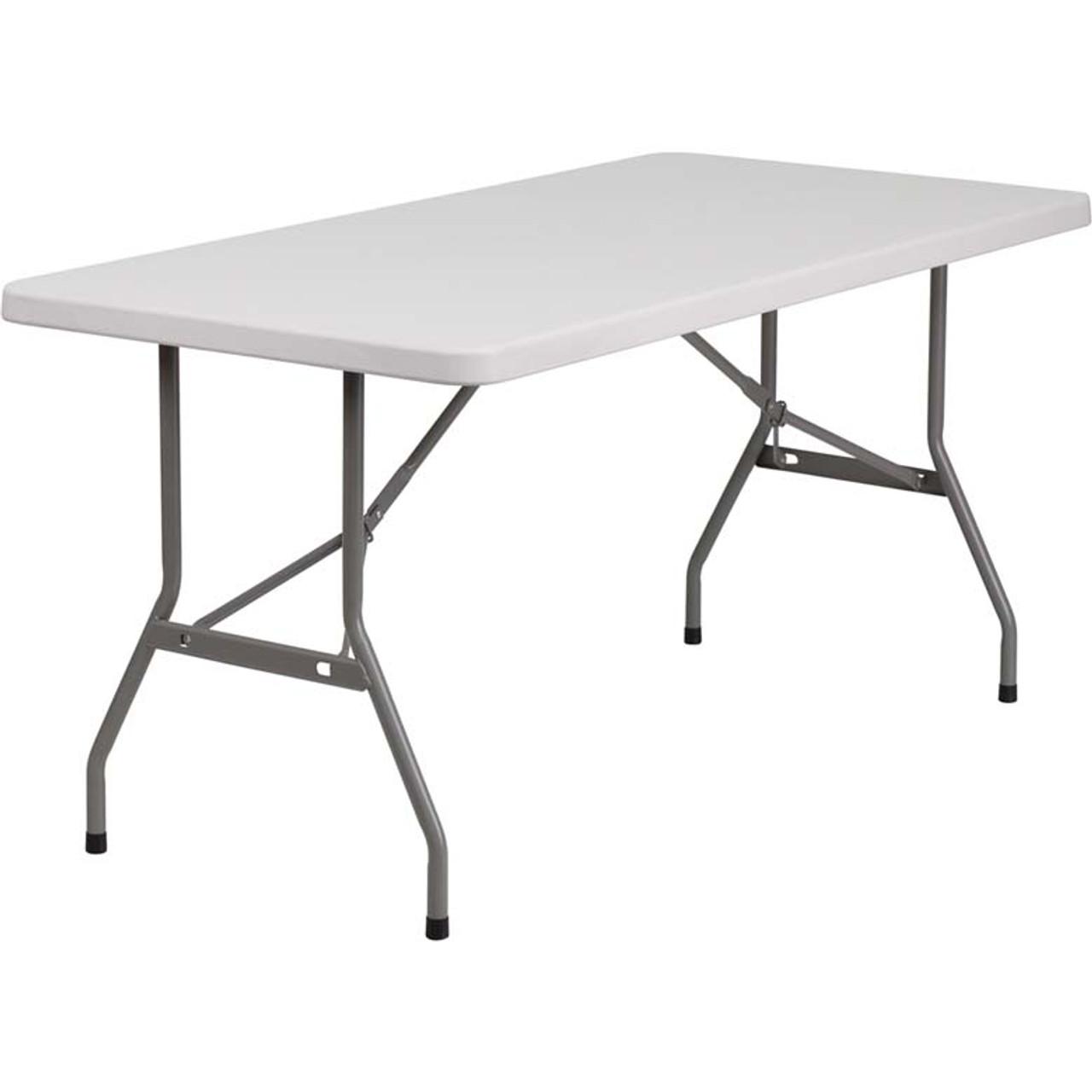 - 5 Ft Lightweight Plastic Folding Table [RB-3060-GG