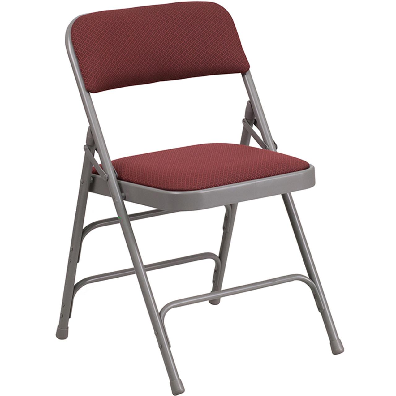 Fantastic Advantage Grey Padded Folding Chair Pattern Burgundy 1 In Fabric Seat Aw Mc309Af Bg Gg Theyellowbook Wood Chair Design Ideas Theyellowbookinfo