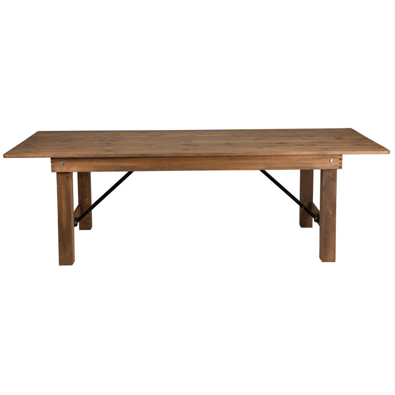 Farmhouse Table 40x108 Rustic Pine Wooden Folding Table