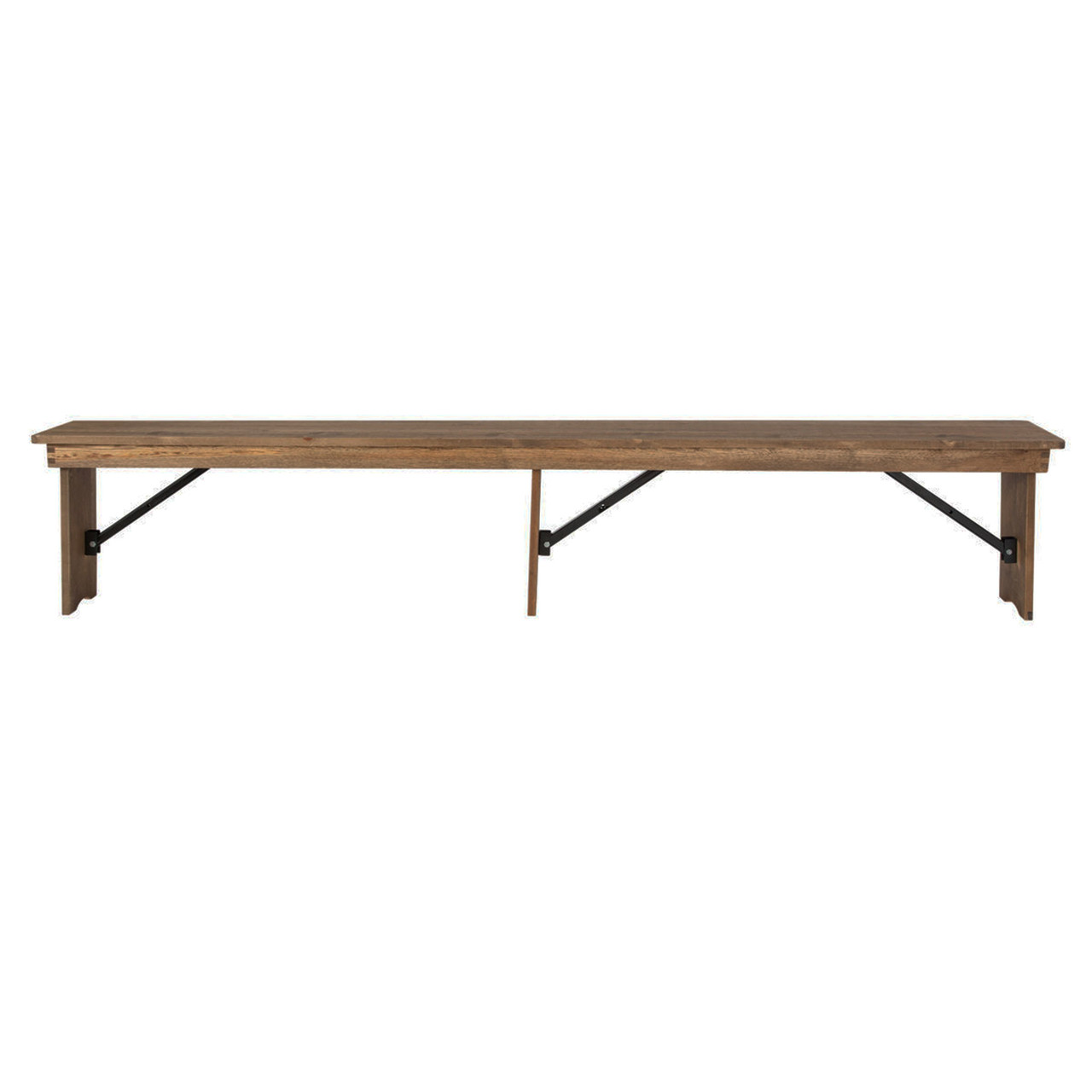 Farmhouse Table Bench 12x96 Rustic Pine Wooden Folding Table
