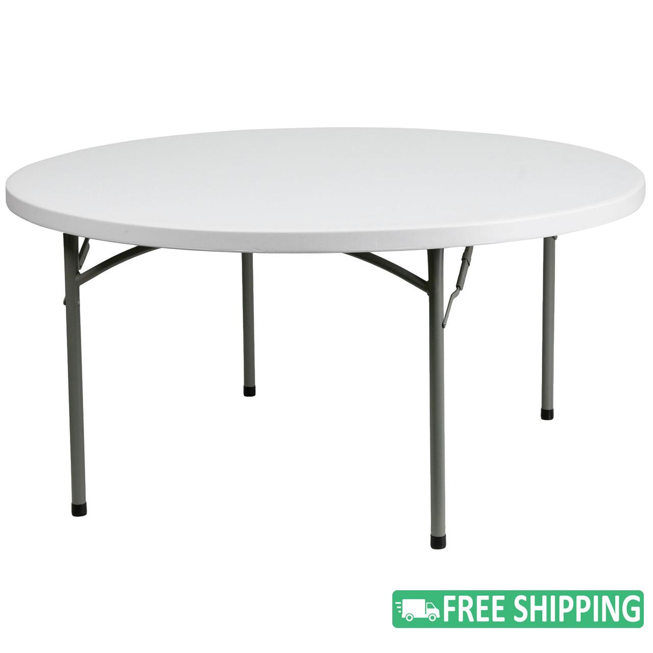 Remarkable 10 Pack Advantage 5 Ft Round White Plastic Folding Table 10 Dad Ycz 152R Gw Gg White Granite Download Free Architecture Designs Scobabritishbridgeorg