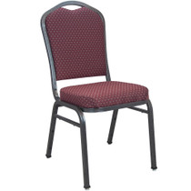 Advantage Burgundy-patterned Premium Banquet Chair - Crown Back [CBMW-202]