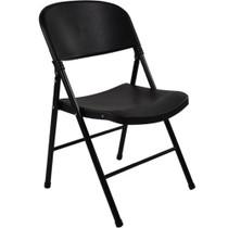 Advantage Black Poly Folding Chair - Oversized [FCIM-BB]