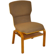 Advantage Custom Church Chairs with Solid Wood Back and Frame [WPCHT-200WB]