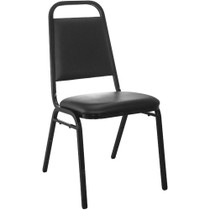 Advantage Black Vinyl-Padded Banquet Stackable Chairs [FD-BHF-2-GG]