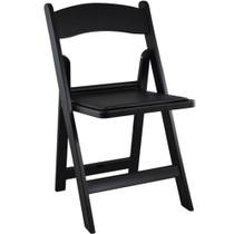 Advantage Black Resin Folding Chairs [LE-L-1-BLACK-GG]