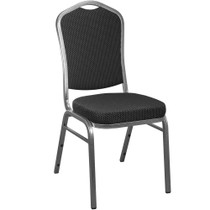 Advantage Black Patterned Crown Back Banquet Chair [CBBC-118]