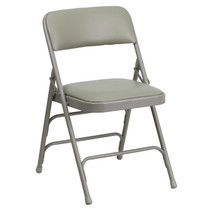 Advantage Grey Padded Folding Chair - Dove Grey 1-in Vinyl Seat [HA-MC309AV-GY-GG]