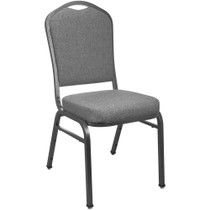 Advantage Premium Charcoal Gray Crown Back Banquet Chair [CBMW-211]