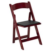 Advantage Wood Folding Wedding Chair - Mahogany [XF-2903-MAH-WOOD-GG]