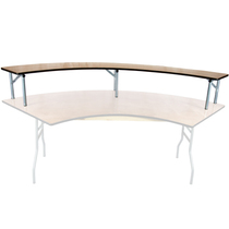 Advantage 6 ft. Serpentine Table Wood Bar Top [BTPW-SERP]