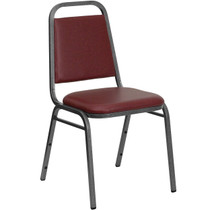 Advantage Burgundy Vinyl-Padded Banquet Stackable Chairs [FD-BHF-2-BY-VYL-GG]