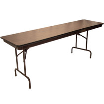 Advantage 6 ft. (30x72) High Pressure Laminate Folding Banquet Table [MEW-3072-WB]