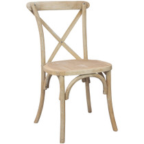 Advantage Natural With White Grain X-Back Chair [X-back-NWG]