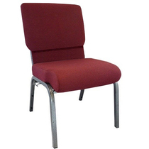 Advantage Maroon Church Chair 20.5 in. Wide [PCHT-104]