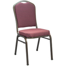 Advantage Premium Burgundy-patterned Crown Back Banquet Chair - Gold Vein [CBMW-202-GV]