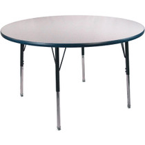 Advantage 48 in. Round Adjustable Activity Table - Grey/Navy [AT48R-GN]