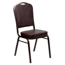 Advantage Brown Vinyl Crown Back Banquet Chair [FD-C01-COPPER-BRN-VY-GG]