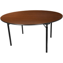 Advantage 5 ft. Round High Pressure Laminate Folding Banquet Table [MEW-60R-WB]