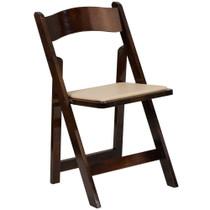 Advantage Wood Folding Wedding Chair - Fruitwood [XF-2903-FRUIT-WOOD-GG]